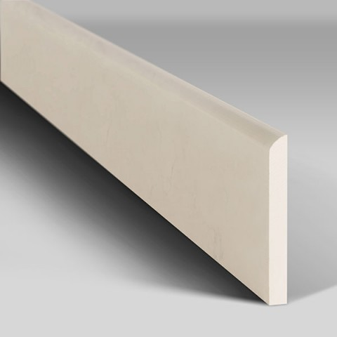 Skirting boards with rounded edge